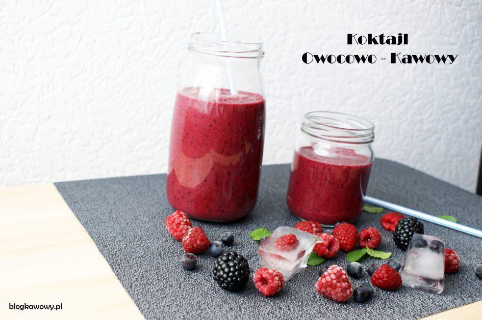 koktajl kawowy z owocami